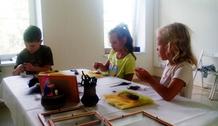 5 августа в мастерской прошёл детский мастер-класс роспись по дереву «Сова»